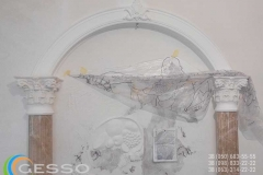 Декоративная арка из гипса 1