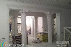 колонны из гипса фото в интерьере 8