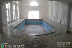 гипсовая лепнина в бассейном зале 3