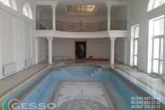 гипсовая лепнина в бассейном зале 4